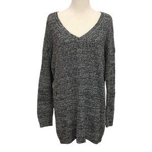 Torrid Heathered Gray Thick Knit Vneck Sweater Size 2 / 2XL